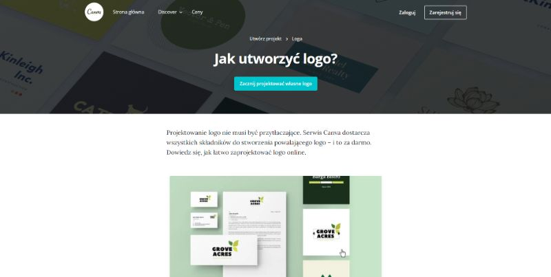 darmowy program do projektowania logo canva