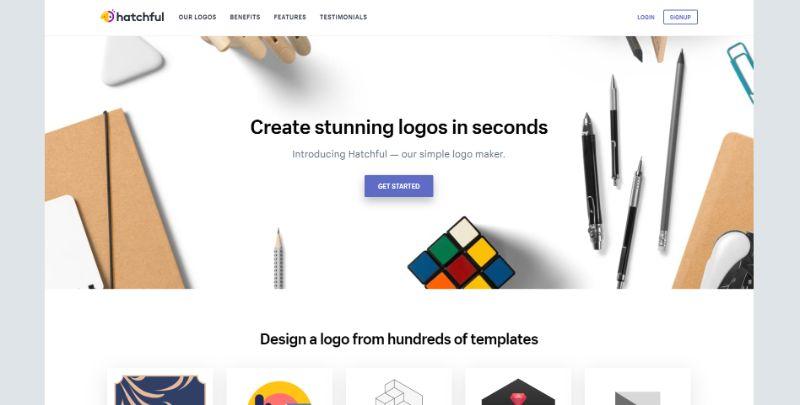 strona do tworzenia logo shopify hatchful